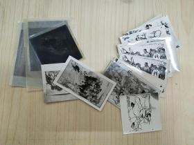 画家徐希旧藏:黄胄国画照片16张及底片3张