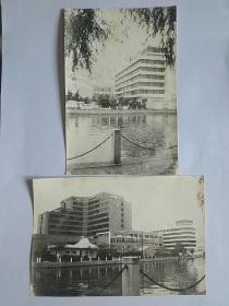 宁波饭店 黑白老照片 2枚