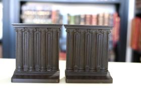 书立一对 Roman Empire Column《罗马柱》 大 约 20世纪 20 年代美国出品 精工铸造 品佳 收藏精品