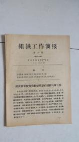 (60年代)组织工作简报(第10期总第96期)