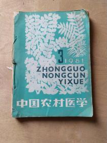 中国农村医学1981