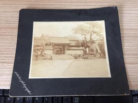 明治36年(1903年)日本《宇佐八幡神社》照片一張,有裝裱