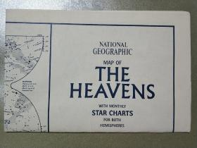 National Geographic国家地理杂志地图系列之1970年8月 The Heavens  星空地图