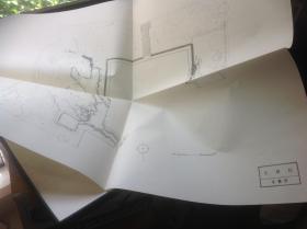 日本有名庭园实测图纸 智积院庭园  滴翠园护岸石组  两张图纸