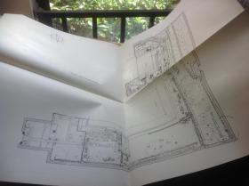 日本有名庭园实测图纸 大德寺庭园  两张图纸