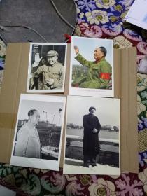 文革 毛主席 照片、画片 4张
