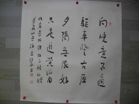 【名家书画】岳飞30世孙岳继承书法《向晚意不适/68*67》