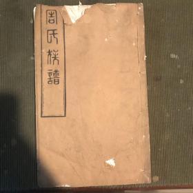 《无锡志学堂周氏族谱》民国白纸铅印线装大开本