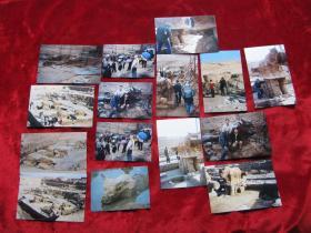 山西考古照片:山西永济黄河铁牛发掘照片15张