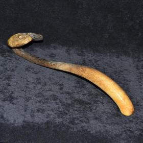 老和田玉 灵芝摆件 老玉器 古玩 古董