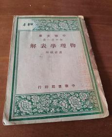 中华文库 :物理学表解