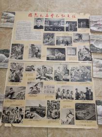 模范民兵营长孙天柱:宣传画(2开)两张一套