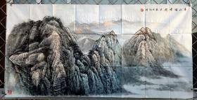 祁海峰,四尺整张山水