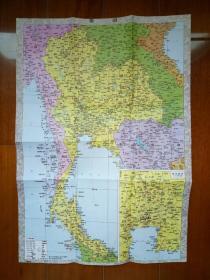 泰国旅游地图