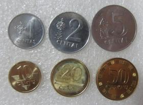 立陶苑硬币6个套欧洲