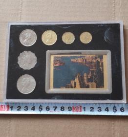 带册香港随机版女王6枚套纪念币(5.2.1元5.2.1豪)硬币钱币收藏
