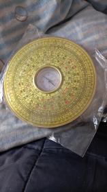 三寸罗经  铜面印字  12层