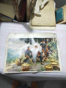 70年代  毛主席 宣传油画