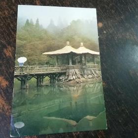 明信片实寄封(未经邮局寄出)阿里山姊妹潭  一枚。