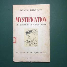 法文原版《 肖像的神秘和历史》丹尼斯,狄德罗 (毛边本)