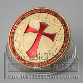 特价十字架骑士纪念币外国钱币硬币24K镀金典藏精美收藏美国英国