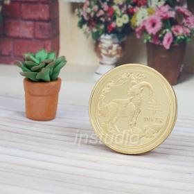 2015乙未羊年生肖纪念金币 十二生肖羊年招财幸运守护纪念章收藏