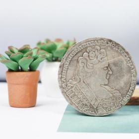 俄罗斯双头鹰银元 女皇安娜一世纪念银币银圆外国仿古钱币收藏品
