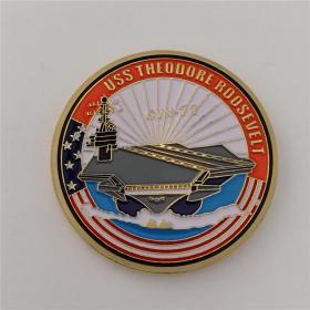 美国海军军徽硬币西奥多罗斯福号航空母舰纪念币 军迷收藏徽章