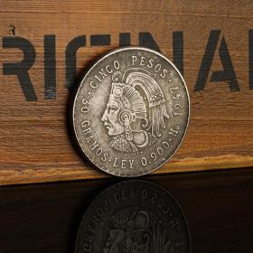 墨西哥鹰洋银元 1947年墨西哥5比索银币银圆古玩钱币外国银元收藏