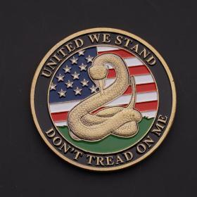 美国蛇自由钟1776纪念章不要踩我纪念币礼物收藏硬币外币军事徽章