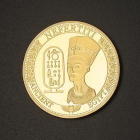 埃及艳后法老纪念币 狮身人面像纪念币系列金字塔文化纪念币金币
