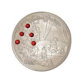 欧美圣诞节新年贺岁纪念银币 平安夜圣诞礼物纪念章镶钻许愿币