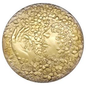 日本桐纹家徽樱花纪念币 2012世界名花日本国花硬币樱花女神金币