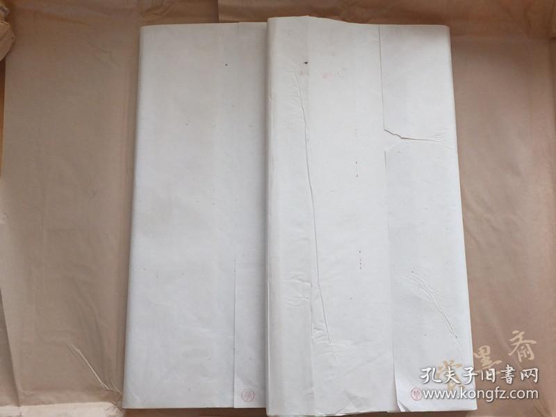 80年代贡品特级老宣紙· 棉料四尺单宣罗纹1刀100张 11N406