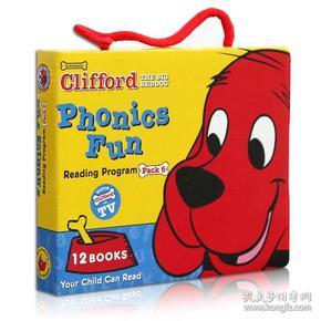 Clifford Phonics Fun Box Set #6 (Books + CD)  大红狗趣味自然拼读CD读本套装6