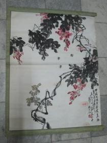 荆州名家杨随震花卉一幅