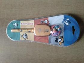 奥运异形挂绳笔——北京2008年奥运会特许商品 塑封未拆【第29届奥林匹克运动会组织委员会授权制造。外形米黄色】
