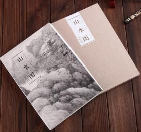 历代名家绘画 山水图 龚贤 9787539842882 折页单张长卷 山水画