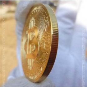 bitcoin实物纪念币硬币金币精美收藏猴年礼物