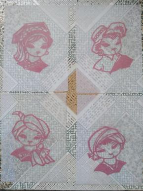 儿童图剪纸四张