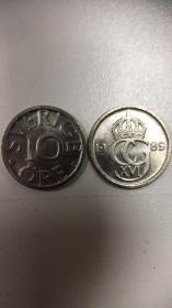 现货瑞典10欧尔硬币 50枚散装 年份随机发货