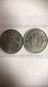现货丹麦10欧尔硬币 50枚散装 年份随机发货