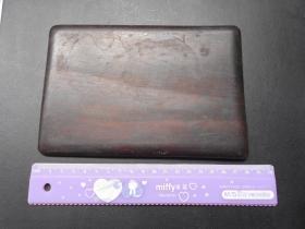 【清代,砚台盖板(有裂纹)】是酸枝还是紫檀,木料不错