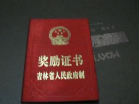 吉林省人民政府奖励证书 空白