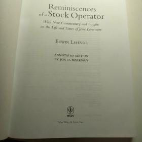 Reminiscences of a Stock Operator:With New Commentary and Insights on the Life and Times of Jesse Livermore