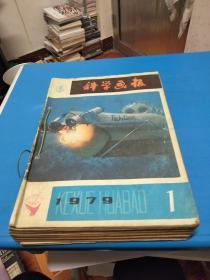 科学画报1979年1-12期,自制合订本,书品如图