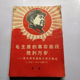毛主席的无产阶级革命路线胜利万岁----党内两条路线斗争大事记(1921——1967)