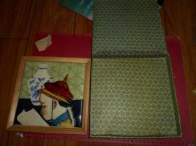 四周有镜框的像是瓷砖,有小皇帝看书的图案,【1955年8月入京,炮兵军官时 约入学生等】