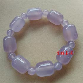 天然珠宝帝王紫玉髓手串 精品玛瑙手链