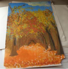 油画风景 手绘原稿真迹